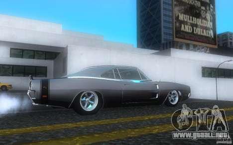 Dodge Charger RT 69 para la visión correcta GTA San Andreas