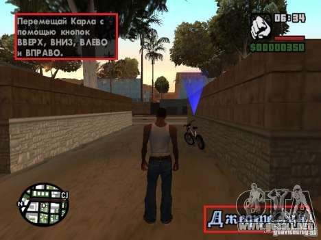 Traducción original de 1 c para GTA San Andreas tercera pantalla