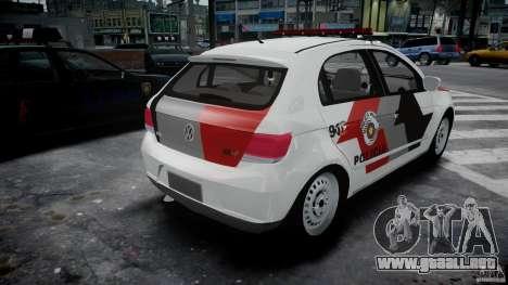 Volkswagen Gol G5 PMSP [ELS] para GTA 4 vista lateral