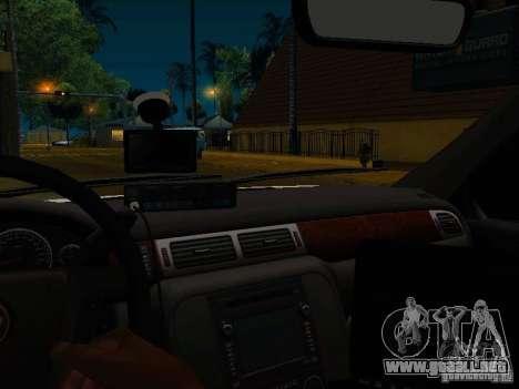 Chevrolet Tahoe Texas Highway Patrol para visión interna GTA San Andreas