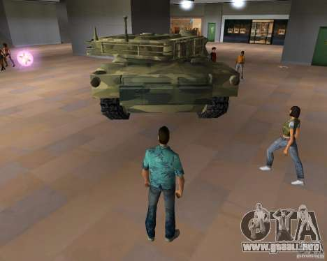 Tanque de Camo para GTA Vice City sucesivamente de pantalla