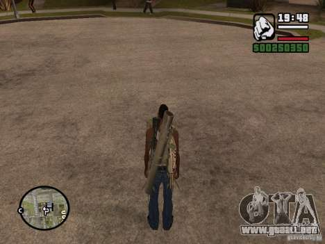 El arma a sus espaldas para GTA San Andreas