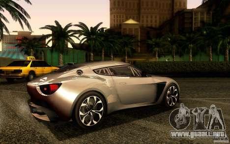 Aston Martin Zagato V12 V1.0 para GTA San Andreas vista posterior izquierda