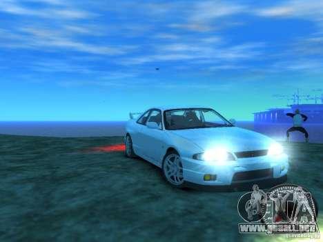 Nissan Skyline GT-R V-Spec (R33) 1997 para GTA 4 vista hacia atrás