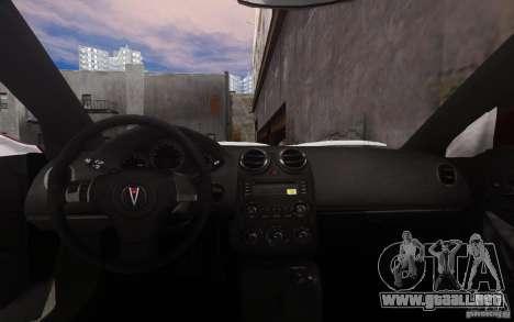 Pontiac G6 para GTA 4 vista desde abajo