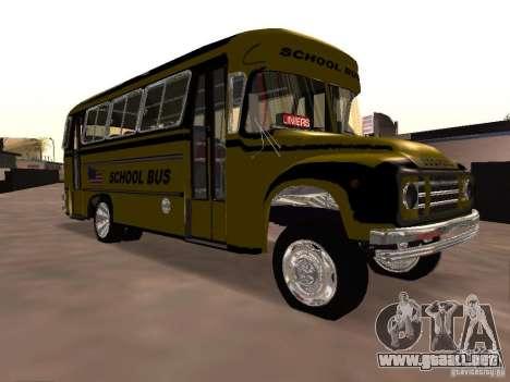 Bedford School Bus para visión interna GTA San Andreas
