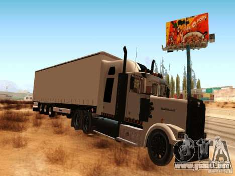 Western Star 4900 para GTA San Andreas left