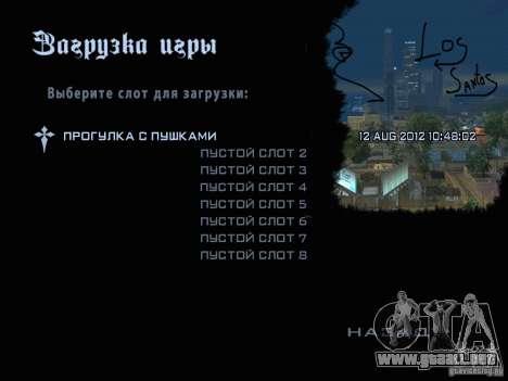 Nuevas imágenes en el menú para GTA San Andreas tercera pantalla