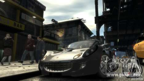 Lotus Elise v2.0 para GTA 4 vista hacia atrás