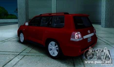 Toyota Land Cruiser 200 para la visión correcta GTA San Andreas