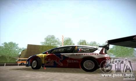 Citroen C4 WRC para GTA San Andreas left