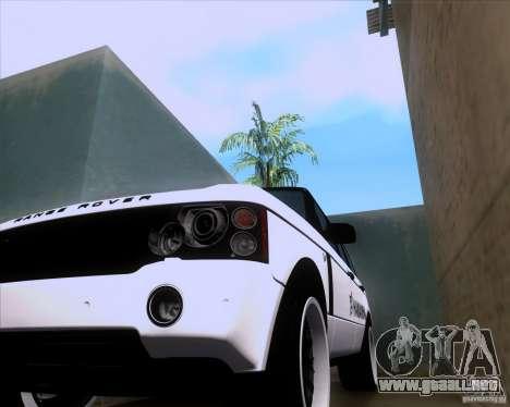 Range Rover Hamann Edition para GTA San Andreas vista hacia atrás