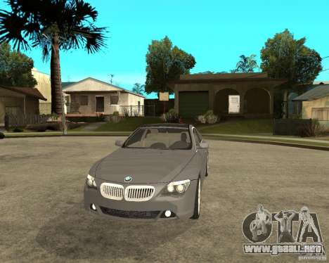 BMW 645Ci 04 para GTA San Andreas vista hacia atrás