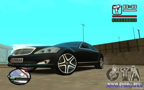Mercedes - Benz S420 (W221) para GTA San Andreas