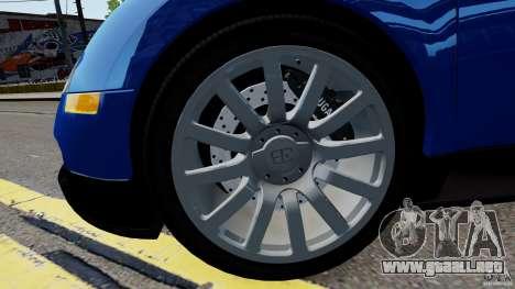 Bugatti Veyron 16.4 v1.0 wheel 2 para GTA 4 vista hacia atrás
