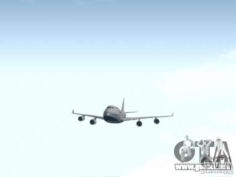 Boeing 747-400 China Airlines para visión interna GTA San Andreas