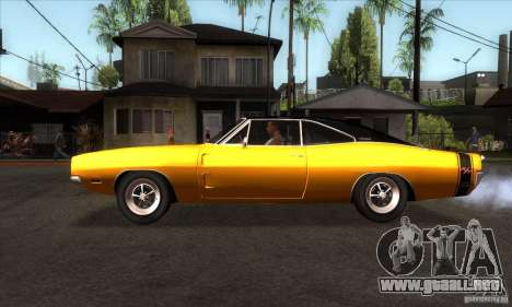 Dodge Charger RT 1969 para GTA San Andreas left
