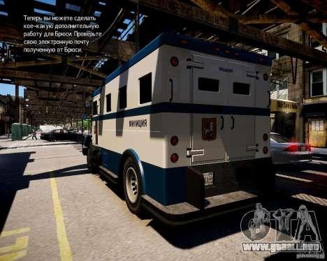 Russian Police Stockade para GTA 4 Vista posterior izquierda