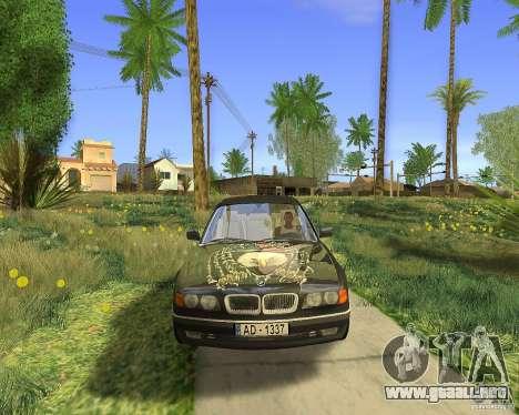 BMW 730i E38 1996 para la visión correcta GTA San Andreas