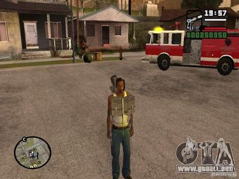 El arma a sus espaldas para GTA San Andreas segunda pantalla
