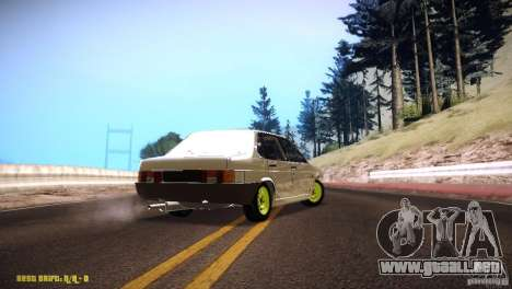 Vaz 21099 Hobo para GTA San Andreas vista posterior izquierda