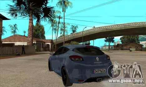 Renault Megane 3 Sport RS 2010 para GTA San Andreas vista posterior izquierda