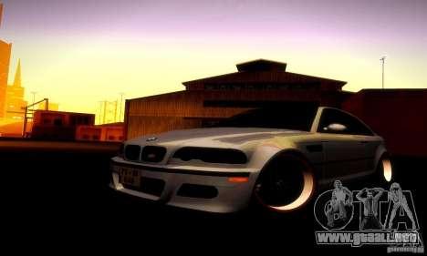 BMW M3 JDM Tuning para visión interna GTA San Andreas