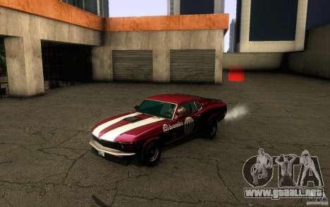 Ford Mustang Boss 302 para la vista superior GTA San Andreas