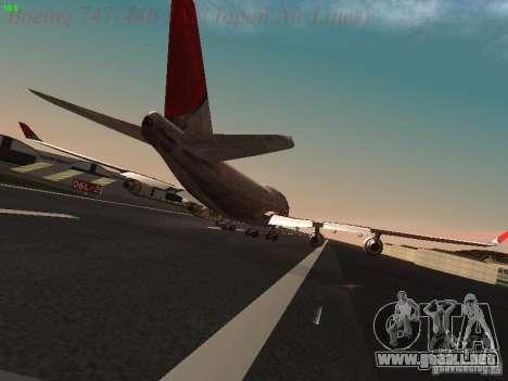 Boeing 747-446 Japan-Airlines para la visión correcta GTA San Andreas