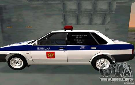 Vaz 21099, policía para GTA San Andreas left