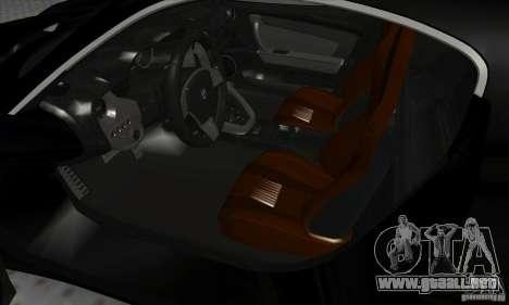 Alfa Romeo 8C Competizione para GTA San Andreas vista hacia atrás