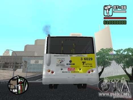 Induscar Caio Piccolo para GTA San Andreas vista posterior izquierda
