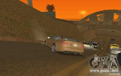 Audi RS6 TT Black Revel para GTA San Andreas vista posterior izquierda