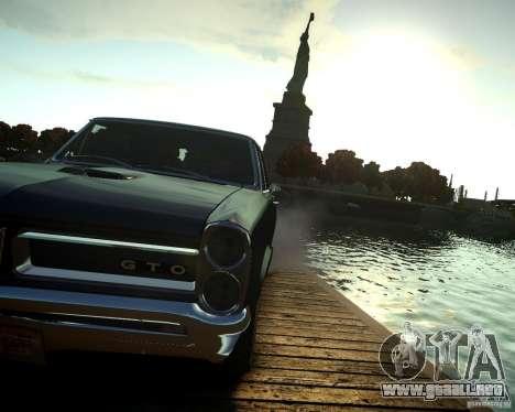 Pontiac GTO DF para GTA 4 vista hacia atrás