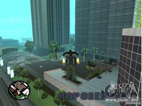 Dorothy Doherty Plaza Nueva para GTA San Andreas sucesivamente de pantalla