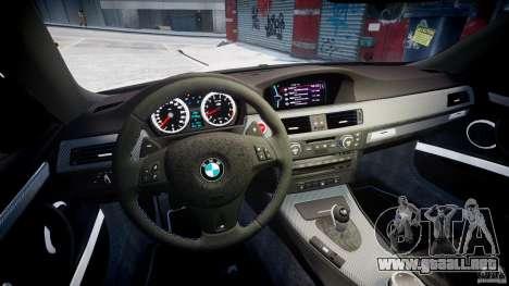 BMW M3 Hamann E92 para GTA 4 vista hacia atrás