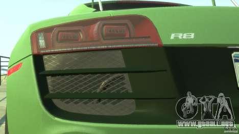 Audi R8 5.2 FSI quattro v1 para GTA 4 vista desde abajo