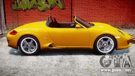 Ruf RK Spyder v0.8Beta para GTA 4 vista lateral