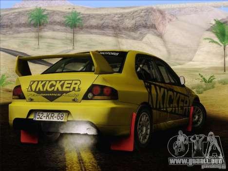 Mitsubishi Lancer Evolution IX Rally para GTA San Andreas
