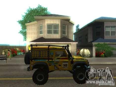 Land Rover Defender Off-Road para visión interna GTA San Andreas