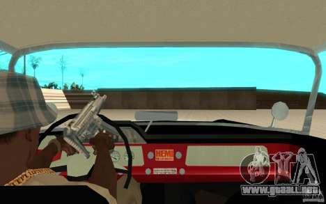 Dodge Lancer 1957 para GTA San Andreas vista hacia atrás