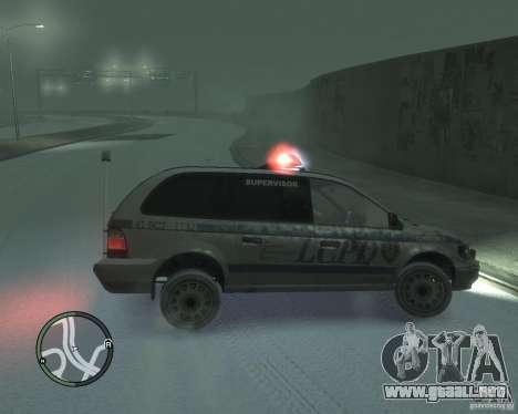LCPD Minivan para GTA 4 left