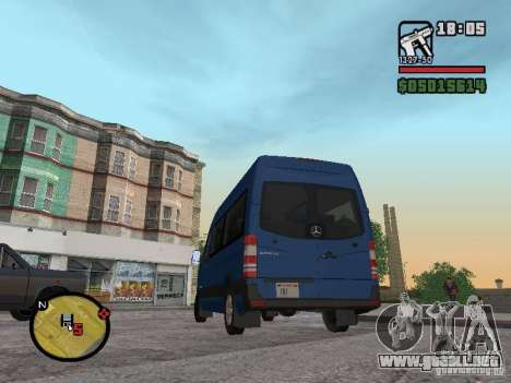 Mercedes-Benz Sprinter 2500 High Roof Passenger para GTA San Andreas left