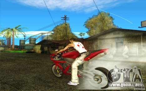 Yamaha YZF R1 Tuning Version para vista lateral GTA San Andreas