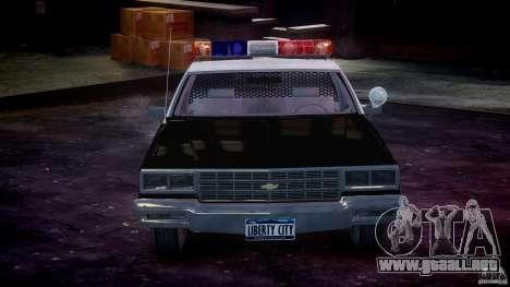 Chevrolet Impala Police 1983 [Final] para GTA 4 interior