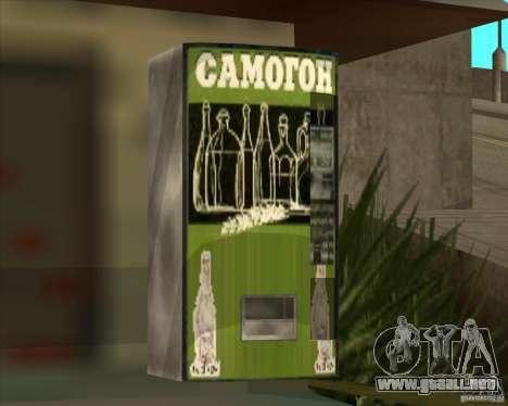 Máquina con vodka para GTA San Andreas segunda pantalla