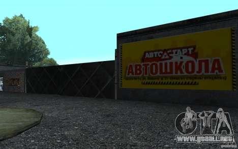 Una nueva autoescuela en San Fierro para GTA San Andreas segunda pantalla