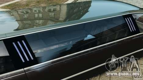 Lincoln Town Car Limousine 2006 para GTA 4 interior