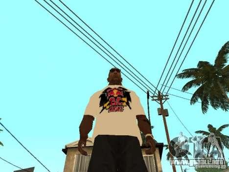 Camiseta Red Bull para GTA San Andreas tercera pantalla