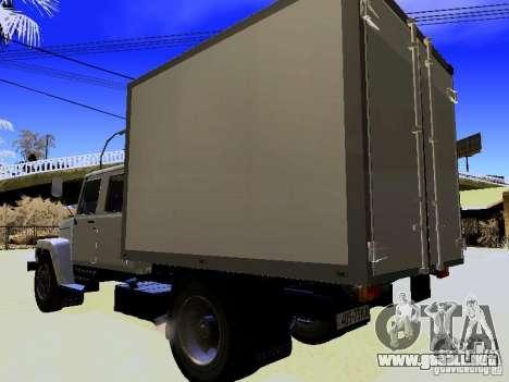 GAZ 3309 Huntsman para GTA San Andreas vista posterior izquierda